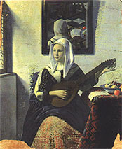 Woman Playing Music by Hans van Meegeren