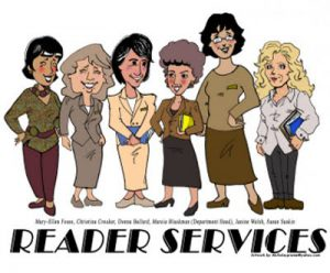 Reader Services Department Caricature